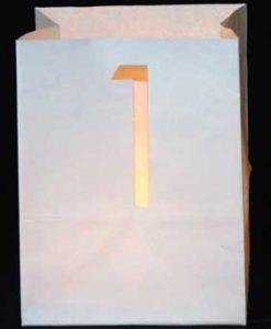 candlebag met cijfer 1