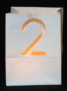 candlebag met cijfer 2