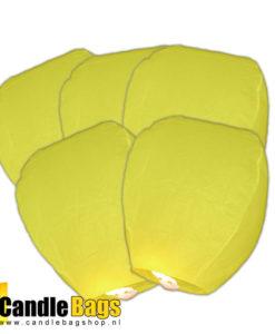 5 gele wensballonnen extra voordelig