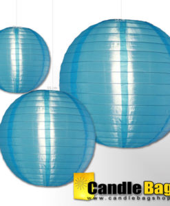 blauwe nylon lampionnen