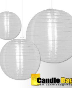 witte nylon lampion van 50cm
