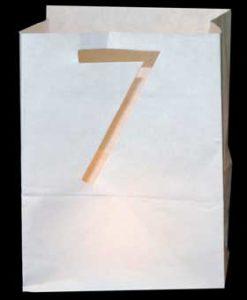 candle bag met cijfer 7