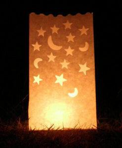 candle bag kaarsenzak Maan en Sterren