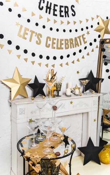 Gouden sterren decoratiepakket
