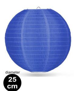 Donker blauwe Nylon lampion 25cm weerbestendige lampionnen voor buiten