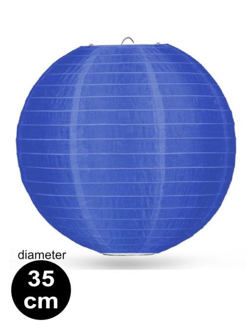 Donker blauwe Nylon lampion 35cm weerbestendige lampionnen voor buiten