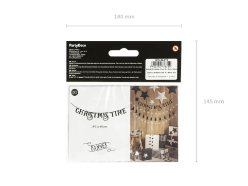 Verpakking christmas time banner