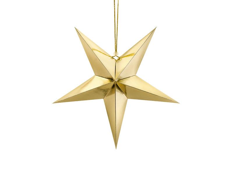 Gouden ster van 45 sm