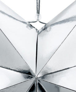 Detail zilveren ster 70cm
