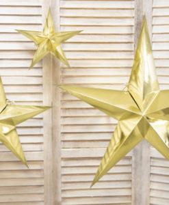 gouden ster 70 cm