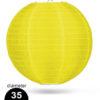 Geel Nylon lampion 35cm weerbestendige lampionnen voor buiten