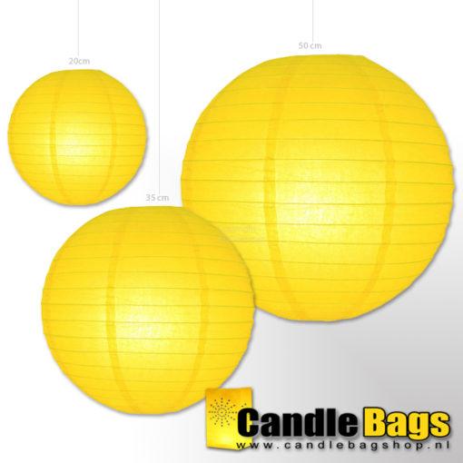 gele lampionnen met doorsnede van 20cm
