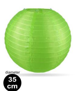 Groene Nylon lampion 35cm weerbestendige lampionnen voor buiten