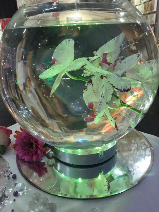 vaas met RGB LED onderzetter