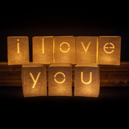 i love you candlebags