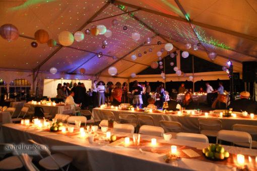 Lampionnen ook mooi tijdens huwelijk