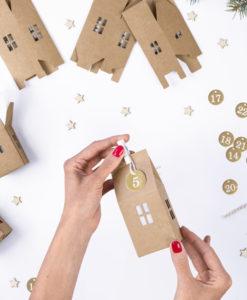 DIY Advent kalender huisjes