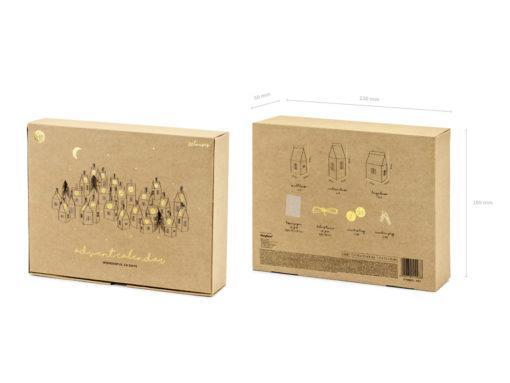 Advent kalender huisjes verpakking