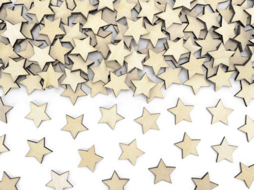 houten sterren confetti
