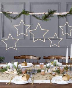 houten sterren confetti scene
