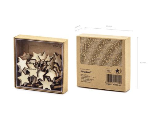 verpakking tafel confetti houten sterren