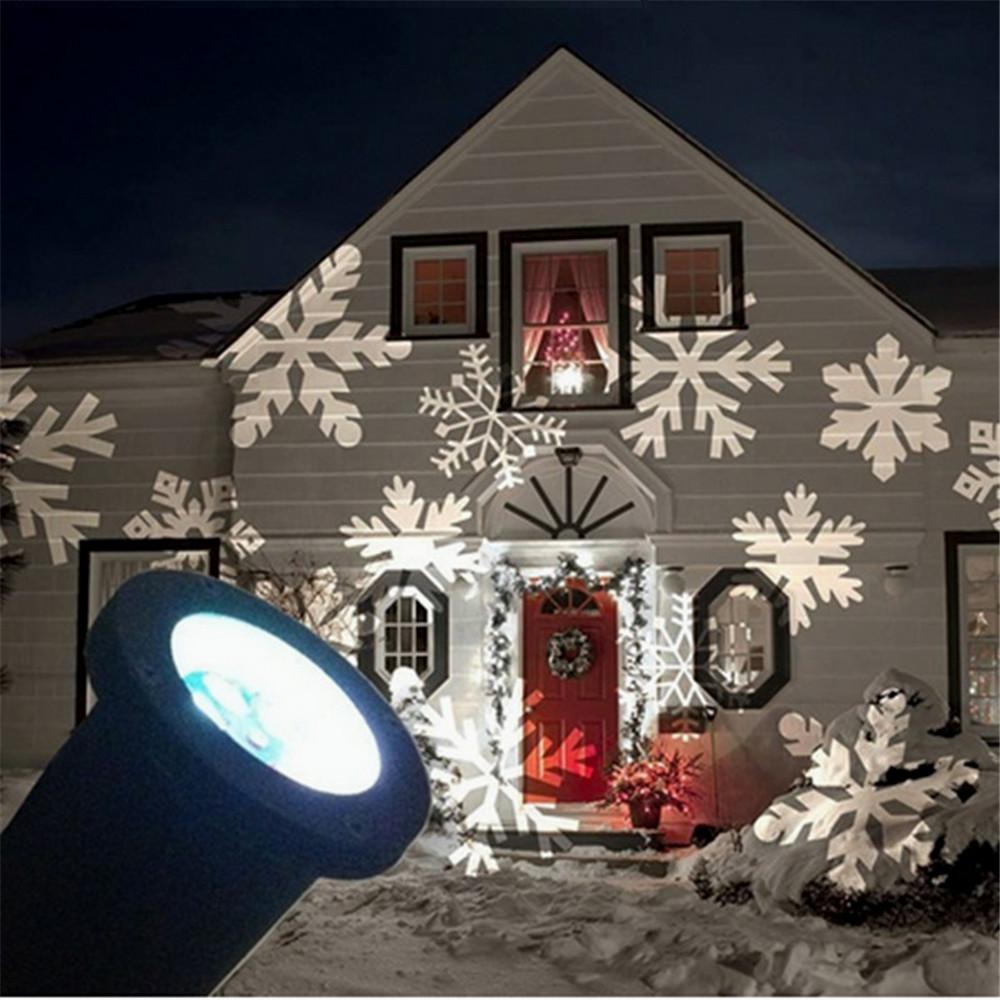 Laser Christmas Lights On House