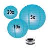 Lampion-voordeelpakket-blauwe-lampionnen-zonder-verlichting