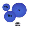 donker blauwe lampionnen voordeelpakket mooie donker blauwe lampion