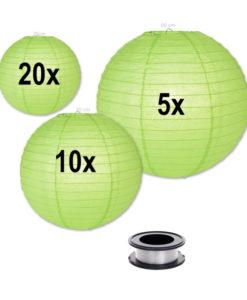 lampion voordeelpakket groene lampionnen zonder verlichting