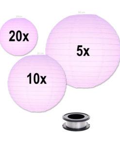 Lampion-voordeelpakket-lila-lampionnen-zonder-verlichting