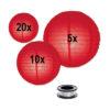 rode lampion in een extra voordelig rode lampionnen pakket