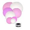 Lampionnen voordeelpakket lampion zonder verlichting roze en witte lampionnen