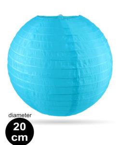 Licht blauwe Nylon lampion 20cm weerbestendige lampionnen voor buiten