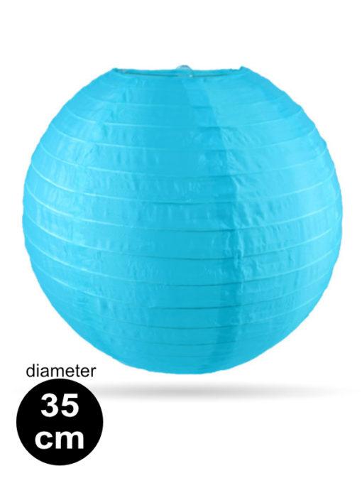 Licht blauwe Nylon lampion 35cm weerbestendige lampionnen voor buiten