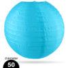 Licht blauwe Nylon lampion 50cm weerbestendige lampionnen voor buiten