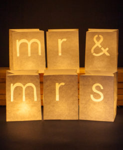 Mr en Mrs candlebags