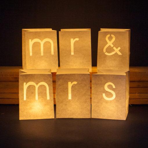 Mr en Mrs candlebags