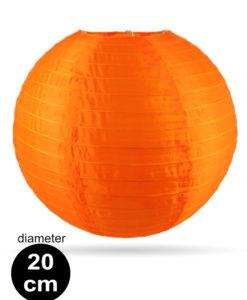 Oranje Nylon lampion 20cm weerbestendige lampionnen voor buiten