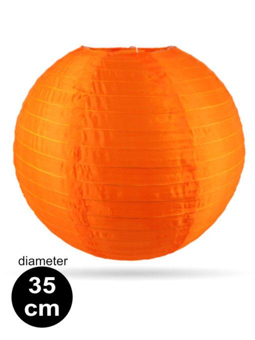 Oranje Nylon lampion 35cm weerbestendige lampionnen voor buiten