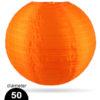 Oranje Nylon lampion 50cm weerbestendige lampionnen voor buiten