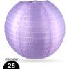 Paarse Nylon lampion 25cm weerbestendige lampionnen voor buiten