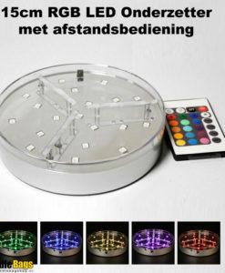 RGB LED onderzetter met afstandsbediening