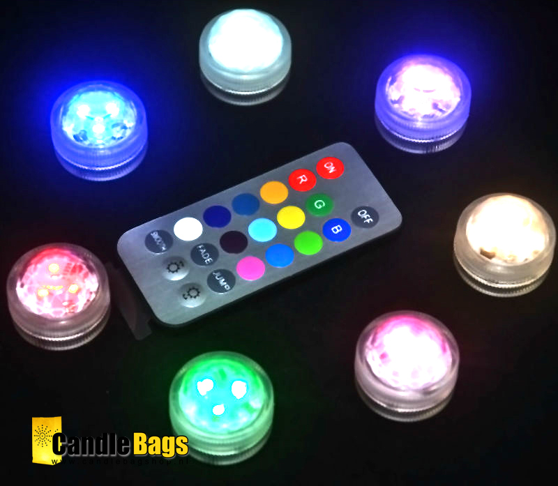 LED lampjes met afstandsbediening (multicolor) set van 10