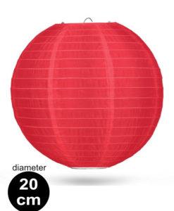 Rode Nylon lampion 20cm weerbestendige lampionnen voor buiten