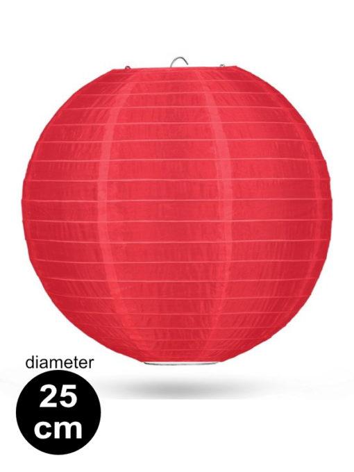 Rode Nylon lampion 25cm weerbestendige lampionnen voor buiten