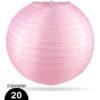 Roze Nylon lampion 20cm weerbestendige lampionnen voor buiten