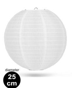 Witte Nylon lampion 25cm weerbestendige lampionnen voor buiten