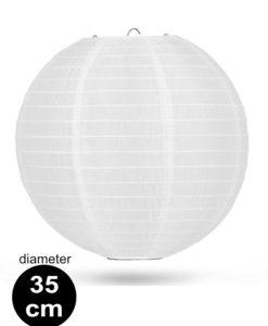 Witte Nylon lampion 35cm weerbestendige lampionnen voor buiten
