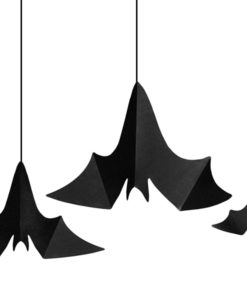 3 hangende vleermuizen halloween