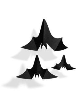 set van 3 vleermuizen voor halloween